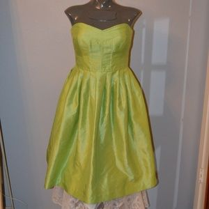 New Direction Lime Green Strapless Dress Sz 4 Prom